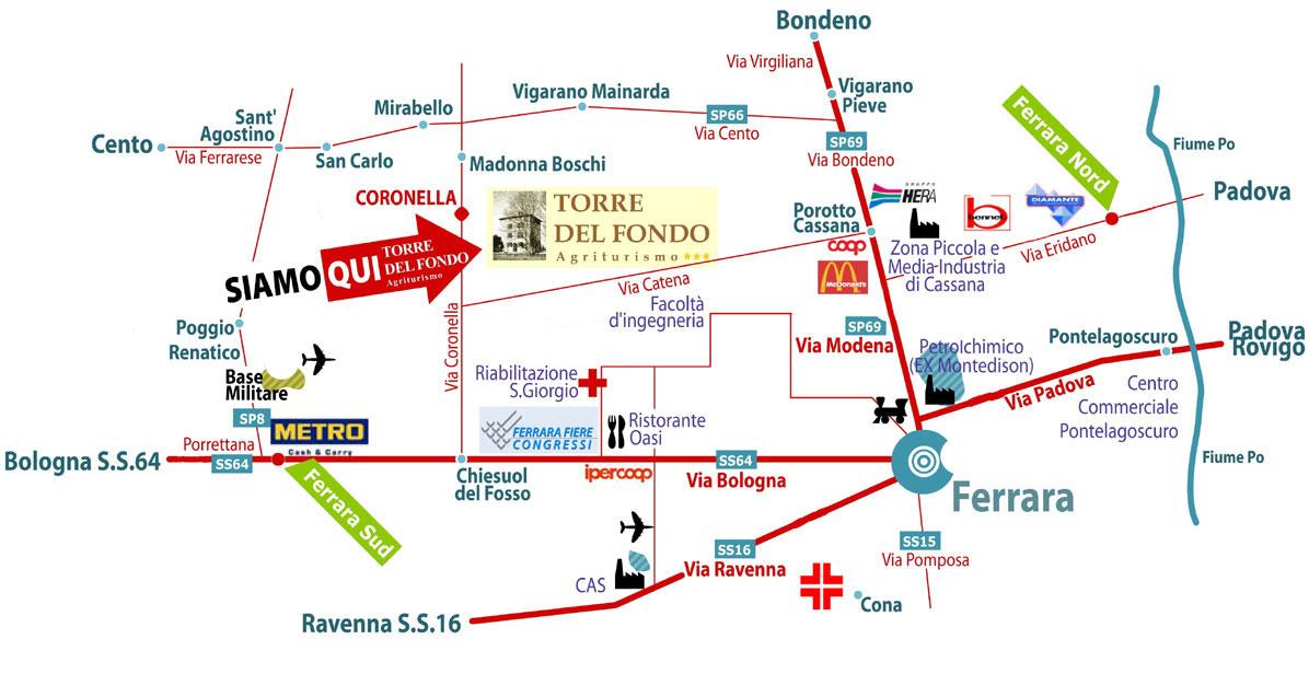 Mappa residence agriturismo torre del fondo - Bagno vignoni mappa ...